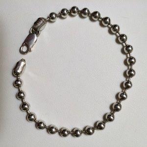 Italian Sterling Silver Ball Chain Bracelet
